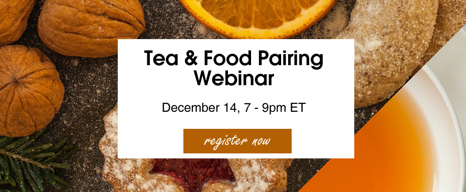 Tea and Food Pairing Webinar